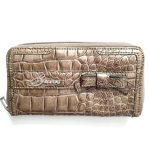 Guess Wallet Animal Print Zip Up Accordion Style